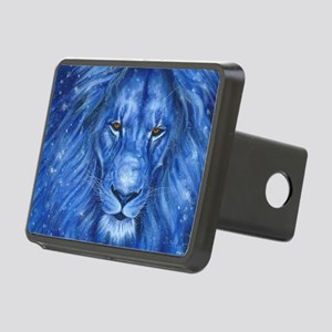 Winter Lion Rectangular Hitch Cover