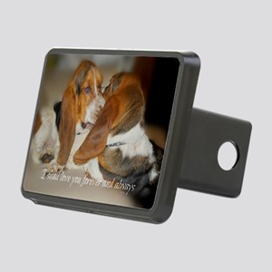Bassets Embrace after bein Rectangular Hitch Cover