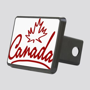 Canada Leaf Script W Rectangular Hitch Cover