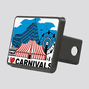 I Love Carnival Rectangular Hitch Cover