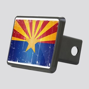 Arizona Flag Distressed Rectangular Hitch Cover