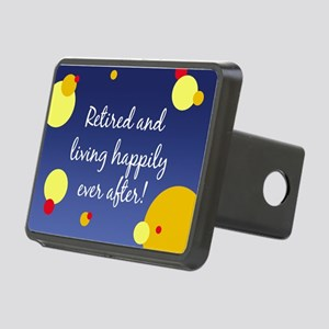 Happily Retired Rectangular Hitch Cover