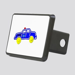 Police Car Rectangular Hitch Cover