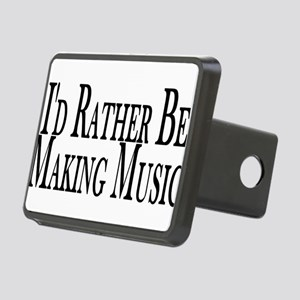 Rather Make Music Rectangular Hitch Cover