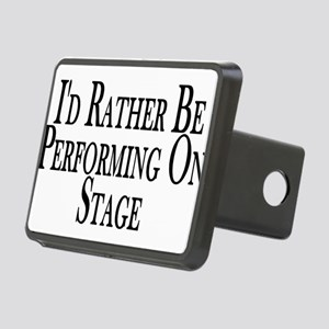 Rather Perform On Stage Rectangular Hitch Cover