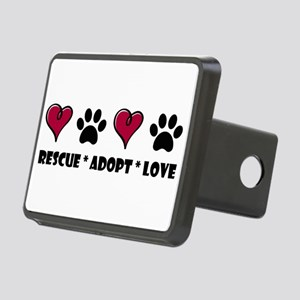 Rescue*Adopt*Love Rectangular Hitch Cover