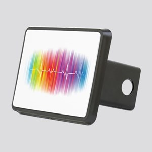 Gay Pride Pulse Rectangular Hitch Cover