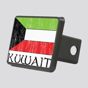 Kuwait Flag Rectangular Hitch Cover