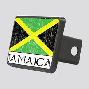 Jamaica Flag Rectangular Hitch Cover