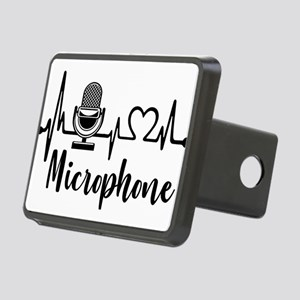 Microphone Heartbeat Rectangular Hitch Cover