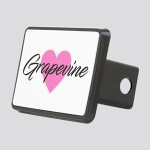 I Heart Grapevine Rectangular Hitch Cover
