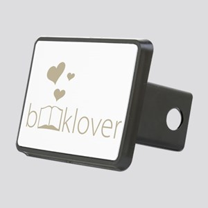 Book Lover - floating hearts - tan Hitch Cover