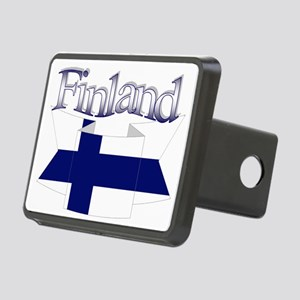 Finnish flag ribbon Rectangular Hitch Cover