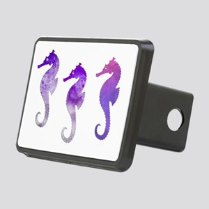 Three Purple Watercolor Se Rectangular Hitch Cover