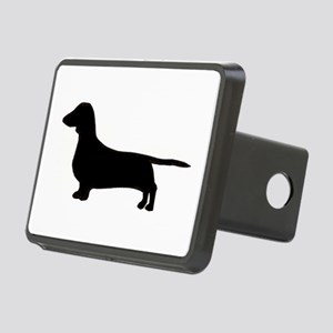 dachshund silhouette black Hitch Cover