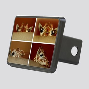 Giraffe Collage Rectangular Hitch Cover