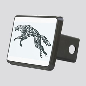 Gray Wolf Rectangular Hitch Cover