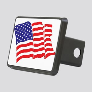 American Flag/USA Rectangular Hitch Cover