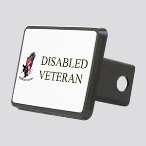 Disabled Veteran Eagle And Ribbon Rectangular Hitc