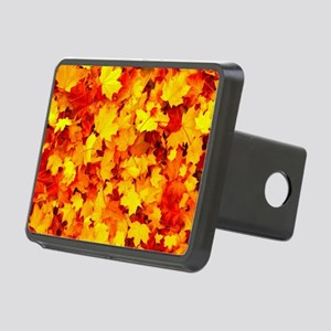 Maple Leaves Rectangular Hitch Cover