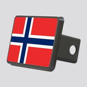 Flag of Norway Rectangular Hitch Cover