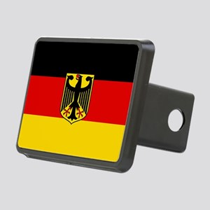 Flag: German & Coat of Arm Rectangular Hitch Cover