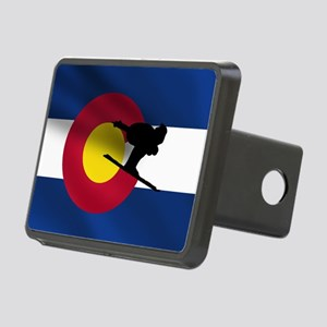 Colorado Skiing Flag Hitch Cover