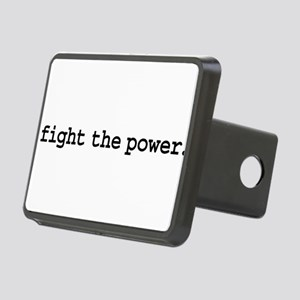 fightthepowerblk Rectangular Hitch Cover