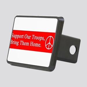 support_our_troops_red_on_white Rectangular Hi