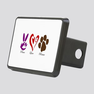 Peace, Love, Rescue Rectangular Hitch Cover