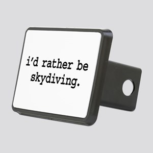 idratherbeskydivingblk Rectangular Hitch Cover