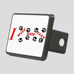 I sleep with dogs Rectangular Hitch Cover
