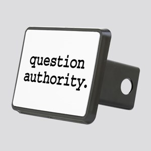 questionauthorityblk Rectangular Hitch Cover