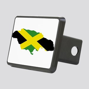 Jamaica Flag and Map Rectangular Hitch Cover