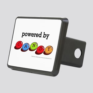 Powered By Candy Rectangular Hitch Cover