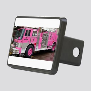 Pink Fire Truck (real) Rectangular Hitch Cover