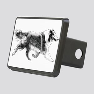 Rough Running Collie Rectangular Hitch Cover