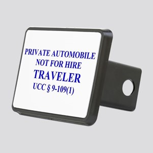 TRAVELER - Blue Rectangular Hitch Cover