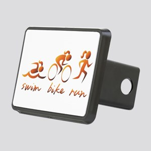 Swim Bike Run (Gold Girl) Rectangular Hitch Cover