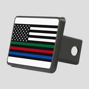 Thin Blue Line Decal - USA Rectangular Hitch Cover