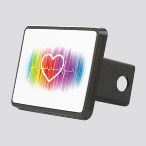 Gay Heartbeat Rectangular Hitch Cover