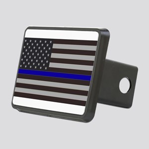 Blue Lives Matter Rectangular Hitch Cover