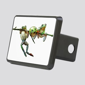 Hang in There Froggies Rectangular Hitch Cover