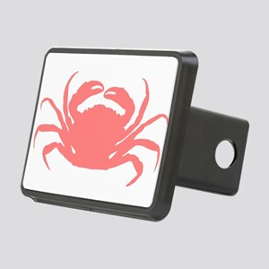 Coral red sae crab illustr Rectangular Hitch Cover
