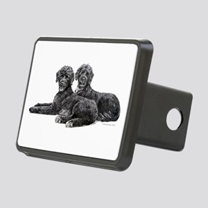 Portuguese Water Dogs Rectangular Hitch Cover