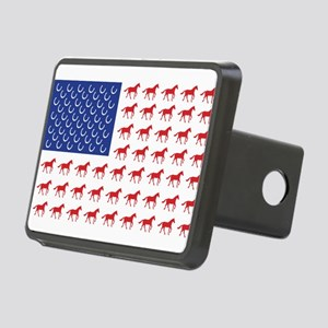 Patriotic Horses USA Rectangular Hitch Cover