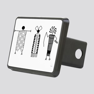 Petroglyph People Rectangular Hitch Cover