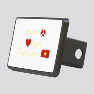 Peace Love Vietnam Rectangular Hitch Cover