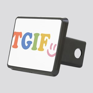 TGIF - Smiley Face - Rainbow Colors Hitch Cover