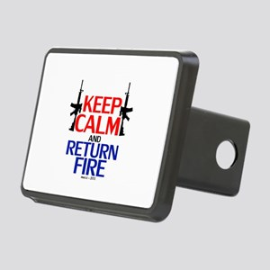 Keep Calm and Return Fire Rectangular Hitch Cover